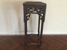 "Antique 18thc Qing chinese hardwood table stand 22x8.5"" unassembled QUALITY"