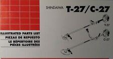 Shindaiwa T 27 C 27 Gas 2 Cycle Brush Saw Amp Line Trimmer Parts Catalog Manual
