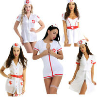 Womens Sexy Naughty Nurse Costume Lingerie Hospital Doctor Fancy Dress Party Set