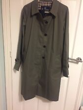 WOMEN'S AQUASCUTUM VINTAGE TRENCH COAT SIZE 12  BNWT Made In England