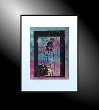 Moderne Malerei C. GOETHE original Linolschnitt Wandbild KUNST Bilder abstrakt