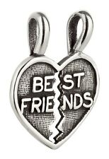 Charm/remolque Best Friends corazón de 925 Sterling plata