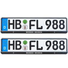 Kennzeichenhalter Nummernschildhalter 2018 2er Set Werder Bremen NEU!OVP!