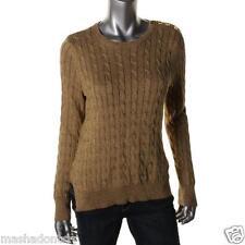 NEW RALPH LAUREN  67% Cotton 21% Polyester 12% Metallic Cable Knit Sweater XL