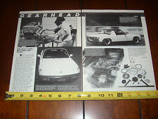 PORSCHE 914 CHEVY 350 V-8  - ORIGINAL 1984 ARTICLE