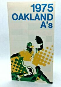 1975 The Swingin Oakland A's Athletics Baseball Schedule Miller Beer #I