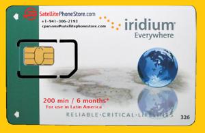 Iridium Latin America Prepaid Satellite SIM Card - 200 Minutes, Valid 6 Months