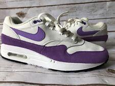 Nike Women's Air Max 1 White Atomic Violet Purple Shoes 319986-118 Size 9.5