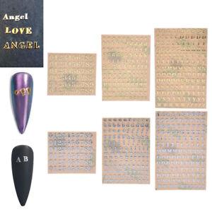 10Pcs 3mm Alphabet Letters Number Stickers DIY Nail Art Jewelry Craft Decorat P3