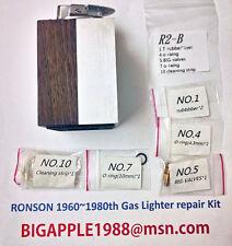 Ronson 1960~1980th Vintage Gas Lighter repair Kit R2-B Free Youtube DIY Video 4