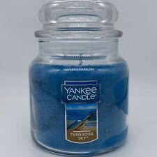 YANKEE CANDLE TURQUOISE SKY MEDIUM JAR CANDLE 14.5 oz NEW FREE SHIPPING