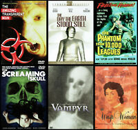 Classic B&W Horror/Sci-Fi DVD Lot / 6-Pack / Vampyr / Wasp Woman / More, OOP