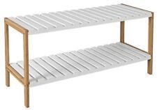 bois Armoire à chaussures étagère bambou Meuble à élément pour déposer les blanc