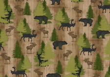FABRIC QT ~ MOOSE TRAIL LODGE ~ Audrey Jean Roberts (26683 A) by the 1/2 yard