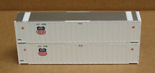 2 Walthers #8460, Upgraded Ho 48' Stoughton ribbed side containers, Up