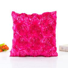Vintage Rose Pillow Case Sofa Waist Throw Backrest Cushion Cover Car Home Decor