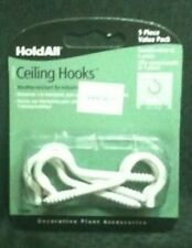 5 piece Pack 2.5 inch Hold All Ceiling Hooks. White Enamel. Free shipping!