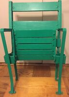 Comiskey Park Free Standing wood back stadium seat from 1910-1990-Restored & Mag