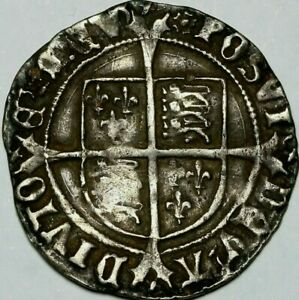 1526-1544, Henry Vlll - Second Coinage Silver Groat, Spink #2337D House of Tudor