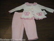 SWIGGLES 0 – 3 Month Infant Baby Girl 2-piece Shirt and Pant Outfit NEW WITH TAG