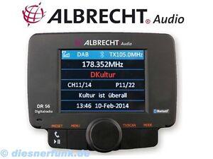 ALBRECHT DR 56 Autoradio DAB+ Adapter Bluetooth Freisprechanlage FM Transmitt BW