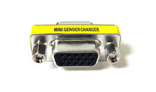 15 HD/DB/15 VGA/SVGA FEMALE TO FEMALE GENDER CHANGER ADAPTER F-F NEW