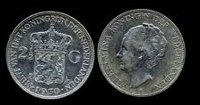 NETHERLANDS Wilhelmina 2 1/2 Gulden 1930 AG