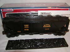 Williams by Bachmann 47601 Alaska Quad Hopper w Cover & Coal Cover O 027 New