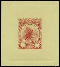 #Wv11-E1 Die Essay Carmine On Glazed Card Bq2855