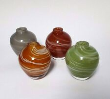 Lot of 4 GLASS INCENSE/OIL INFUSER HOLDERS Swirl Glass