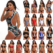 Brazilian Women Triangle Bikini Set Push-Up Bra Beach Suit Swimwear Swimsuit AP