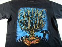 FLYING COFFIN Halloween Themed Mens Graphic T-Shirt M