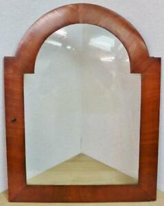 Antique English 19thC Mahogany Grandfather Longcase Hood Door - Spares Or Repair