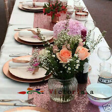 """New Rose Gold Select Sequin Table Runner 12""""x72"""" Sparkly For Wedding Party Decor"""