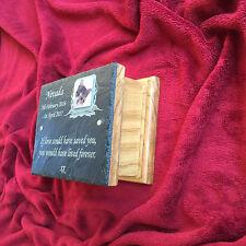 PET PHOTO MEMORIAL BOX Ceneri Urna con foto personalizzata Placca & Oak bara