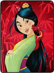 "Mulan Princess & Mushu Throw Blanket Warm Soft 46"" x 60'' Honor Your Strenght"