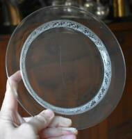 """LOVELY AND RARE VINTAG LALIQUE SAINT HUBERT 8 1/2"""" LUNCHEON PLATE #8 EIGHT TOTAL"""