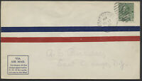 1928 AAMC #2805d Port Menier to La Malbaie First Flight, Roessler Envelope