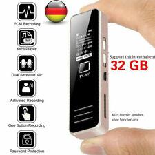 32GB Diktiergerät Tragbar Aufnahmegerät Audio Sound Voice Recorder MP3-Spieler