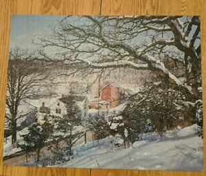 "Crown Guild Jigsaw Puzzle January Near Mt Horeb Wisconsin 21.5"" x 27.5"" 1000 Pcs"