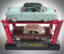 2 Rare M2 Machines 1953 Ford Crestline Victorias On Auto Lifts - Two Tones