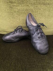BLOCH Genuine Leather Black Jazz Dance Shoes Children's Size 13 Cotton Lined