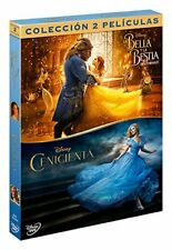 BELLA Y BESTIA + CENICIENTA PACK DVD 2 PELICULAS DISNEY NUEVO ( SIN ABRIR )