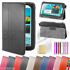 Stand PU Leather Case Cover For Samsung Galaxy Tab 2 7.0 P3100 Screen Protector