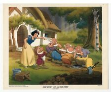 Snow White, LAST CALL FOR DINNER - NEAR MINT Lithograph from 1947 Walt Disney