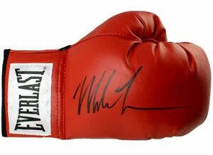 Iron Mike Tyson Signed Autographed Everlast Red Boxing Glove TRISTAR COA Champ