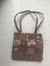 Brown Bag With Sequin Design
