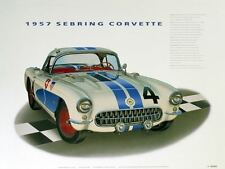 1957 CORVETTE CLASSIC CAR POSTER AUTOMOTIVE FINE ART PRINT GICLEE OF PAINTING!!!