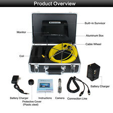 """50M Endoscope Inspection Camera 12LED +7"""" Monitor for Sewer Pipe Pipeline Drain"""