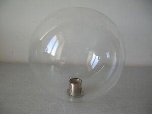 Globe luminaire boule sphère en verre transparent plafonnier lustre de 15 cm